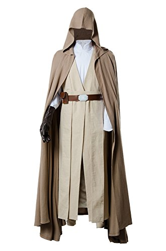 Star Wars 8 The Last Jedi Luke Skywalker Outfit Cosplay Kostüm