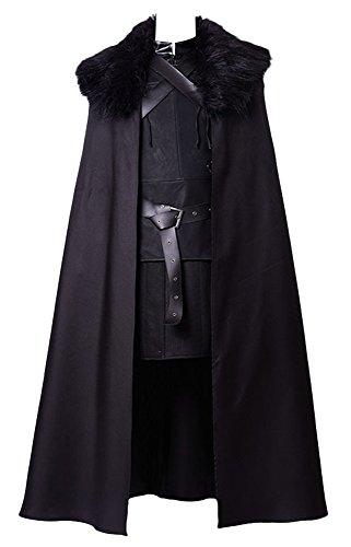 GoT Game of Thrones Jon Snow Night's Watch Outfit Cosplay Kostüm Herren XL