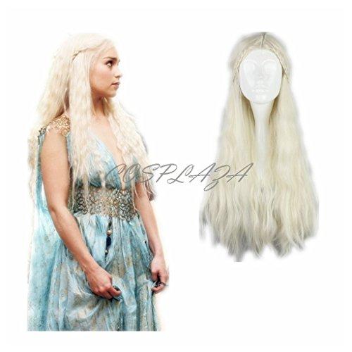 Game of Thrones Daenerys Targaryen Perücke geflochten