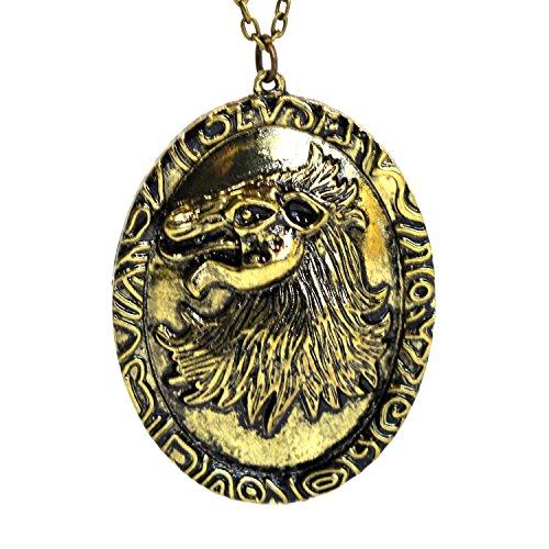 Game of Thrones Cersei's Löwen Halskette, Antik goldfarben