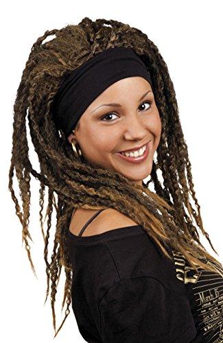 The Walking Dead Michonne Erwachsenenperücke mit Haarband