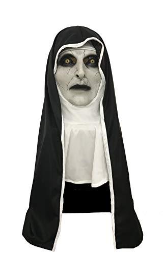 The Nun Maske Film Cosplay Kostüm Latex Voller Kopf für Erwachsene