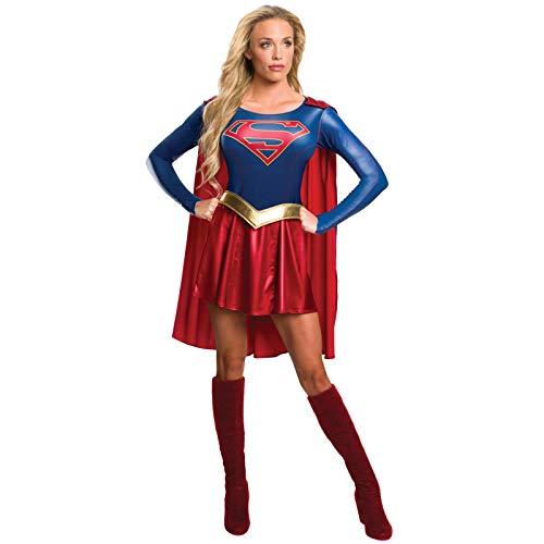 Offizielles Supergirl-T-Shirt-Kostüm für Damen (TV-Serie), Erwachsenen-Kostüm