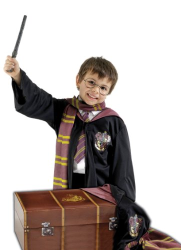 Harry Potter Kostümkiste, mit Brille, Zauberstab, Umhang und Halstuch