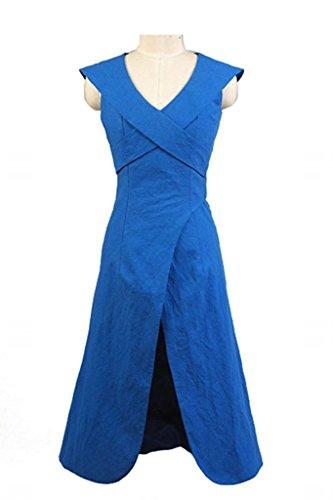 Game of Thrones Daenerys Targaryen Dress Kleid Blau