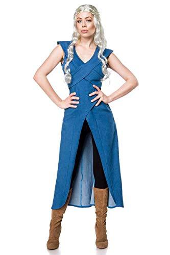 Game of Thrones Daenerys Mother of Dragons Kostüm 3tlg blau schwarz