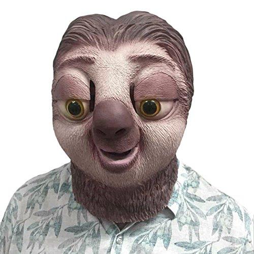 Latex Maske Zootopia Faultier Sloth Maske